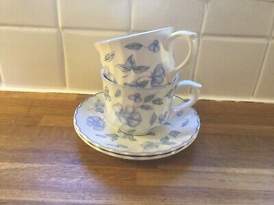 BHS - Bristol Blue - Cups And Saucers X2 • 11.99£