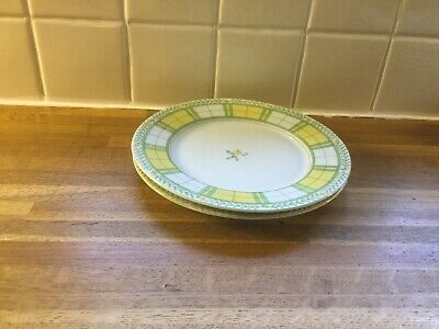 Marks And Spencer Yellow Rose -  Dessert/Salad Plates X2 • 9.99£