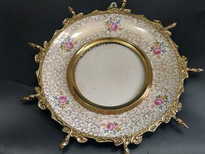 Large Wade Royal Victoria Plate With Brass Frame C1950s • 50£
