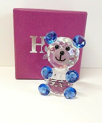 *SALE* Blue Crystal Glass 6 Cm Bear Gift Boxed • 12.50£