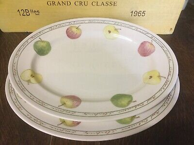 Royal Stafford - Apples  - Small Oval Platter / Steak Plate X 2 - BRAND NEW • 19.99£