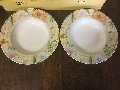 Royal Stafford - Country Cottage - Rimmed Soup/ Pasta Bowl X 2 - BRAND NEW • 12.99£
