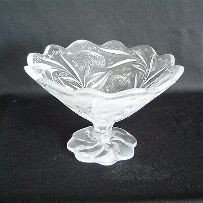 Rare Signed Hawkes Gravic Footed Compote • 691.02£