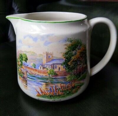 Vintage BCM Nelson Ware Jug, Wordsworth Lake Country, Grasmere Church 1770-1850 • 12£
