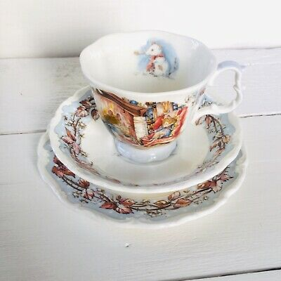 Royal Doulton Brambly Hedge Winter Teacup Trio SE19 • 28£