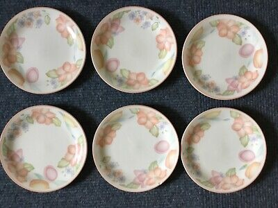 Marks Spencer Orange Blossom Side Plates 6 Starter Desert Pink Pattern Retired  • 11.99£