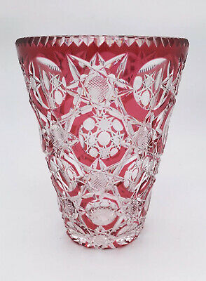 Stevens And Williams Constellation Pattern Glass Vase C1930 • 160£