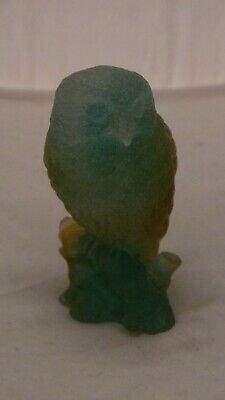 Daum Pate De Verre Owl On Stump • 225£