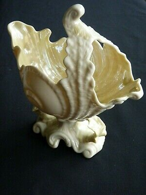 Belleek. Imperial Shell Spoon Warmer. Vii Mark. 1980 - 1993. • 50£