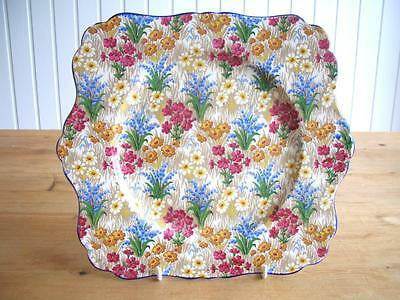Grimwades Marguerite Chintz Square 9  Plate - Not Perfect.. • 8£