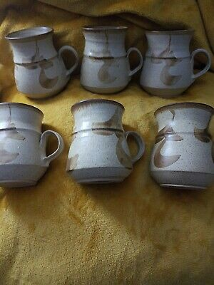 Derry Ware Pottery Mugs X6 • 20£