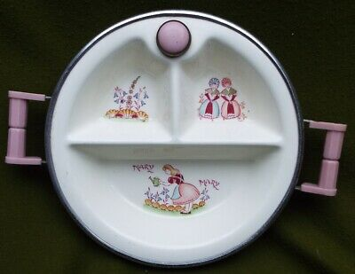 Vintage  Mary, Mary  Child's Warming Plate • 30£