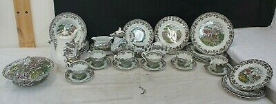 Vintage Myotts Country Life 36 Piece Hunting Scene Service  • 59.99£