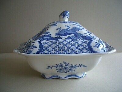 Antique Furnivals Old Chelsea Blue/White Serving Tureen - Will Blend With Masons • 27£
