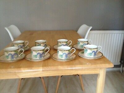 BHS Queensbury 8 Cups And Saucers • 25£