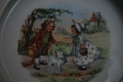 Charming Regency Picture 7.5  Antique Nursery Bowl • 15£