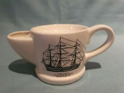 Vintage Wade Ceramic Shaving Cup HMS Victory Ship Nautical Decorated Original GC • 7.49£