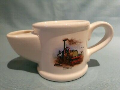 Vintage Wade Heavy Ceramic Rotary Cultivator 1858 Decorated Shaving Cup GC • 7.49£