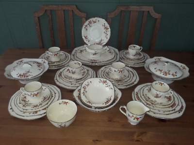 Absolutely Gorgeous Alfred Meakin Dinner Service. Full 54 Piece C1937/45 • 75£