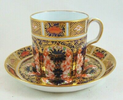 Antique Royal Crown Derby Imari 1128 Coffee Can Cup & Saucer Dated 1920 • 37.99£