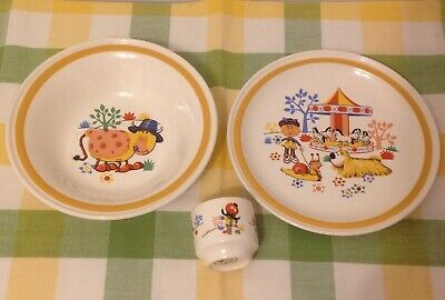Vintage Child's Magic Roundabout Breakfast Set Carrigaline Pottery 1974 Plate  • 18.99£
