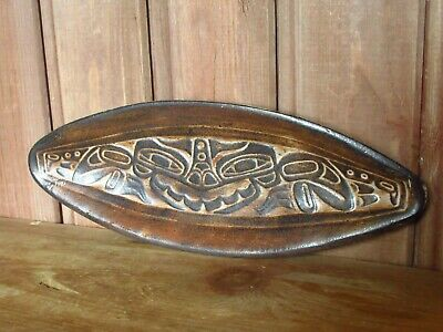 Vintage Haida Art Pottery Unusual Abstract Handmade Sea Monster Dish • 16£