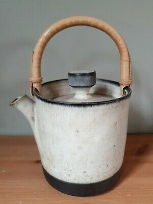 Studio Pottery Teapot With A Cane Handle • 20£