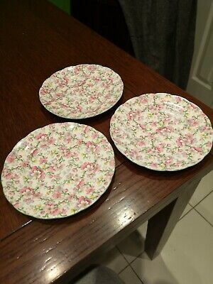 Vintage Chintz Teaplates X 3 May Medley By Royal Standard Excellent • 6.95£