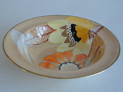 Deco Grays Susie Cooper Style Desert Bowl Handpainted Gilded 'Sunbuff' A2999 • 24.99£