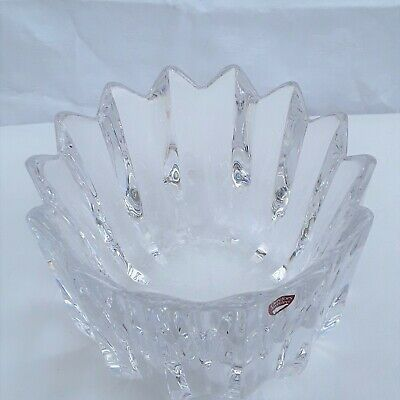 Orrefors Swedish Glass Large Crystal Bowl By Jan Johansson • 12£