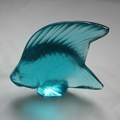 Lalique Turquoise Crystal Angel Fish • 59.95£