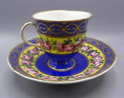 Superb Circa 1790's Sevres Gobelet Etrusque With Saucer - Signed By Painter • 475£