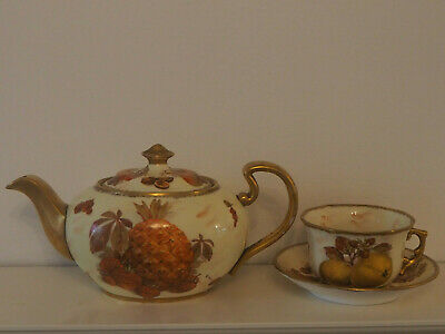 Vintage Hammersley Autumn Gold Teapot And Cup • 149£