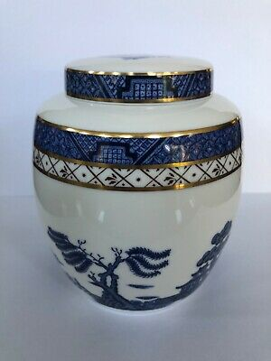 Royal Doulton Booths 'Real Old Willow' Fine China Ginger Jar • 24.99£