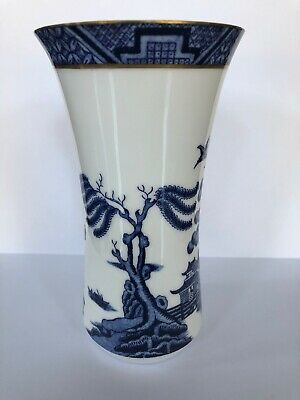 Royal Doulton Booths 'Real Old Willow' Fine China Small Vase • 22.99£