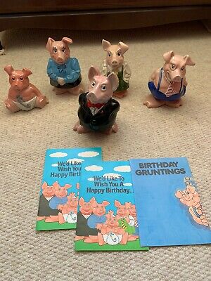 Wade Full Set Natwest Pigs, Excellent Condition All With Original Stoppers • 20£