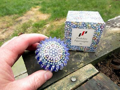 A Vintage Scottish Perthshire Paperweight And Unusual It Still Is In Box! • 21£