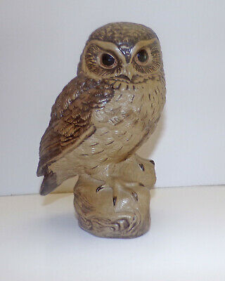 Poole Pottery Large Owl Figurine 18cm Signed Barbra Linley Adams In Stoneware • 14.99£