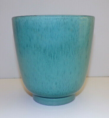 """Poole Pottery Mottled Blue-Green Footed Vase 6"""" Or Cache Pot Planter Shape 653 • 12.99£"""