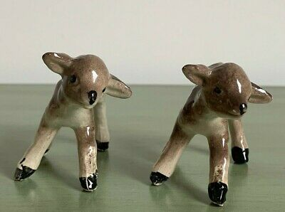Two Vintage Porcelain Bone China Lamb Figurines Ornaments Beswick??? • 6.20£