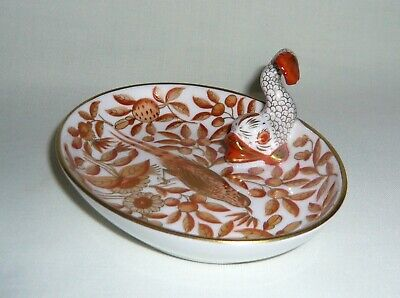 Herend Hungary Copper Zoo/Zova Small Pin Dish With Tiny Fishnet Dolphin • 10.50£