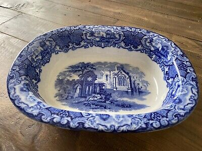 BLUE AND WHITE Like JONES  ABBEY PIE DISH • 4£
