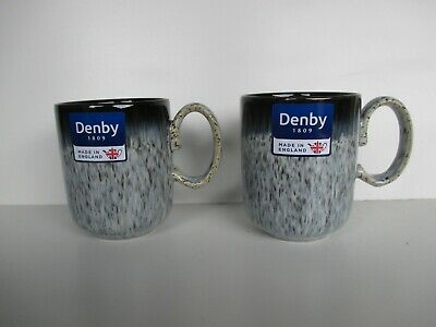 Denby Pottery Halo 2 X Straight Mugs New First Quality Excellent Condition • 21.75£