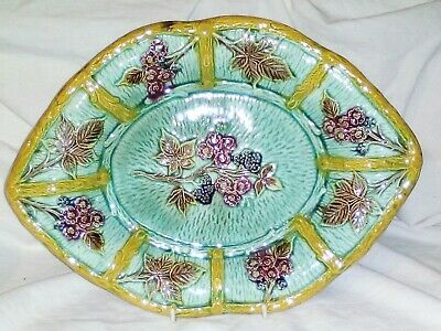 Majolica Victorian Bread And Butter Plate • 18.99£