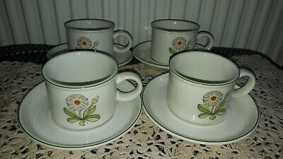Midwinter Fleur Cups And Saucers X4  1960s • 18£