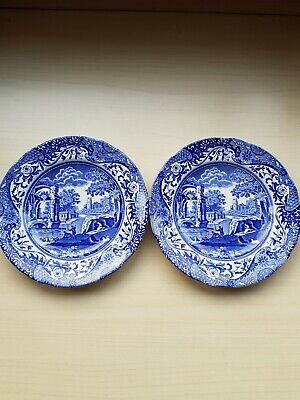 2XVintage Spode 6inch Plate Blue/white Italian Collectable Design C1816F Lovely  • 4£