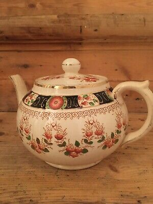 Victorian China Teapot, 4 Cups And Saucers - Gibsons • 40£