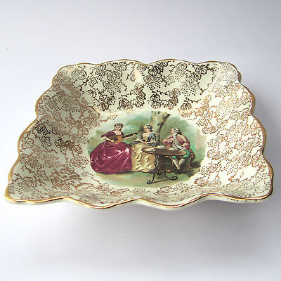 Midwinter FragonardGold Chintz Pin / Trinket Dish D5.5  Vintage 1940s / 1950s • 6£