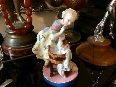 Antique French Porcelain Figure By Vion & Baury Circa 1880 • 50£