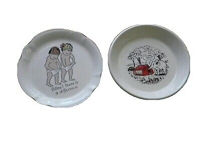Dishes Saucy 1950's Dishes X2 Collectible • 7£